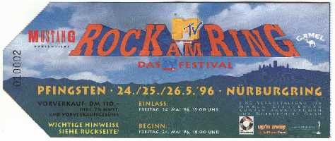 Rock Am Ring Karte.Der Rock Am Ring Almanach